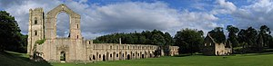 Fountains Abbey - Image: Fountains Abbey view crop 1 2005 08 27