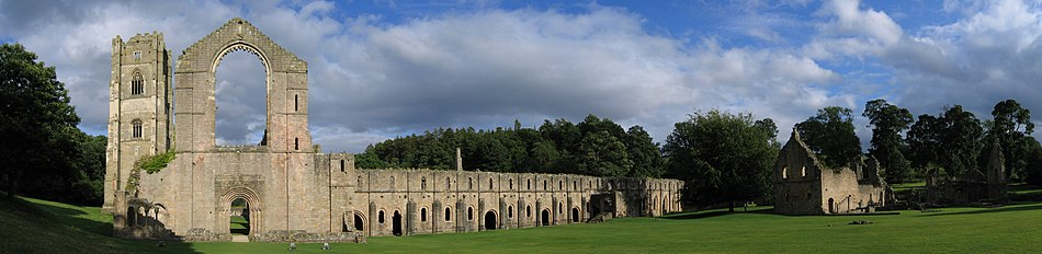 View of Fountains Abbey looking from east to south.
