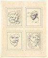 Four Heads (from Characaturas by Leonardo da Vinci, from Drawings by Wincelslaus Hollar, out of the Portland Museum) MET DP824112.jpg