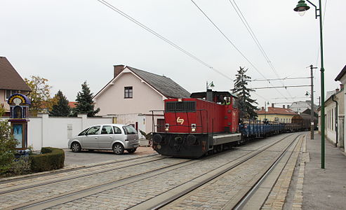 freight train in Guntramsdorf, Austria