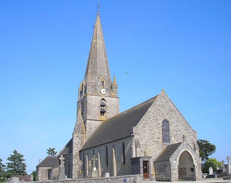 Quettreville-sur-Sienne (Normandie, France). L'église.