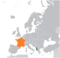 France Albania Locator.png
