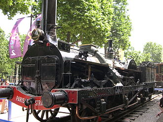 Crampton locomotive - Preserved French Crampton locomotive
