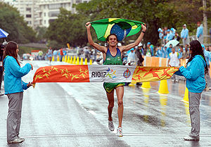 Athletics at the 2007 Pan American Games - Franck de Almeida winning the men's marathon for Brazil