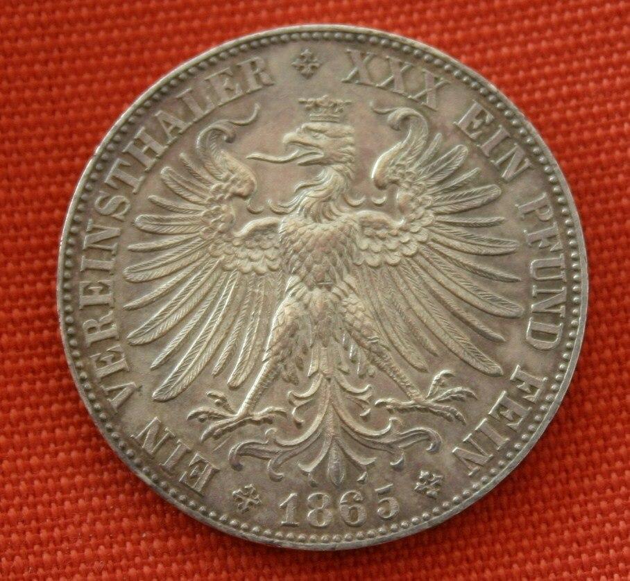 Frankfurt Vereinsthaler 1865 Revers