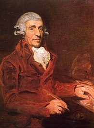 Haydn as portrayed by John Hoppner in England in 1791 (Source: Wikimedia)