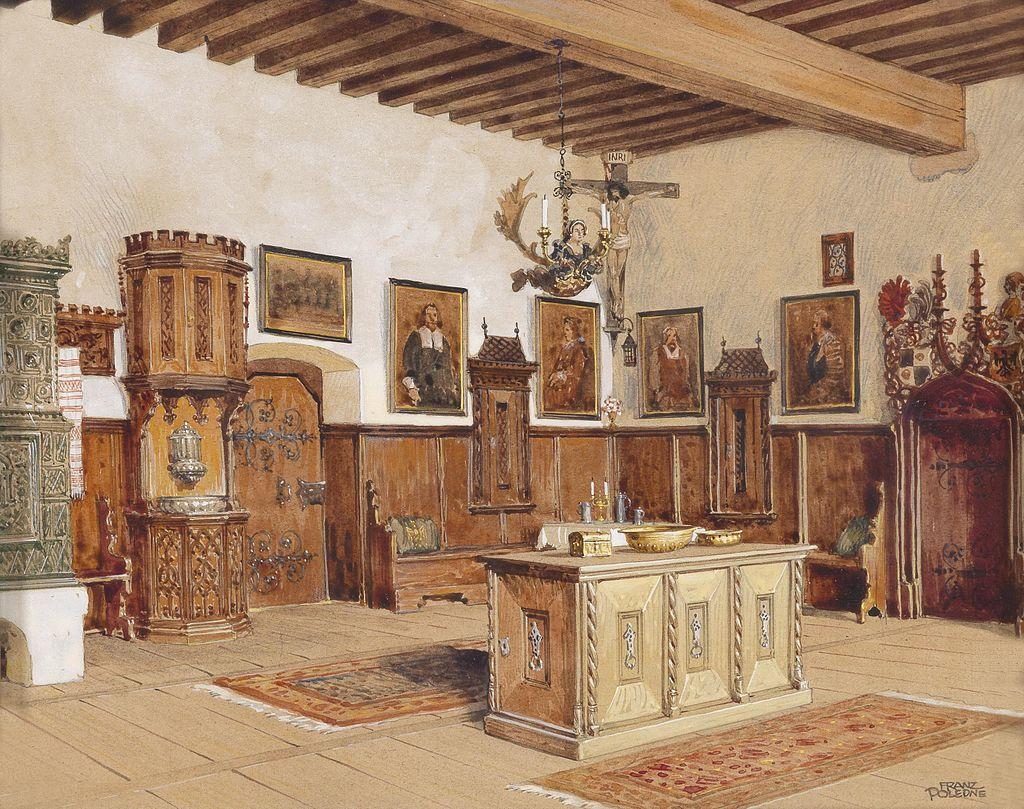 Franz Poledne Interieur Burg Kreuzenstein 1.jpg