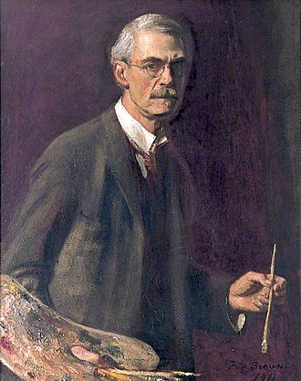 Frederick Brown (artist) - Self portrait (1911)