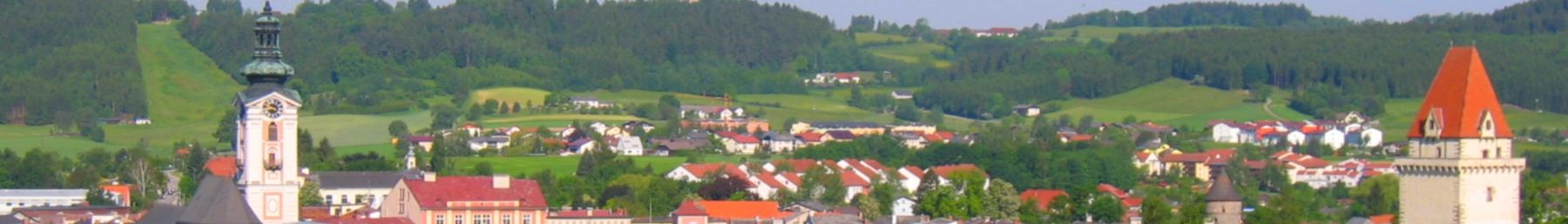 A panorama of the Freistadt skyline.
