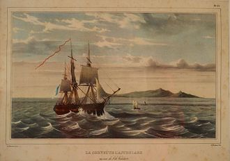 French ship Astrolabe (1781) - Image: French Corvette L'Astrolabe