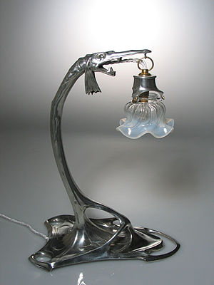 Friedrich Adler (artist) - Art deco lamp