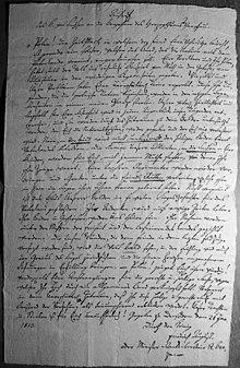 Aufruf des Königs von Sachsen an die Bewohner Warschaus am 21. Januar 1813 (Quelle: Wikimedia)