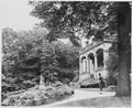 """Front portico and grounds of the """"Little White House"""" at Babelsburg, Germany, residence of President Harry S. Truman... - NARA - 198984.tif"""