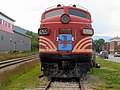 Front view of B&M 4265 at Gorham Historical Society, August 2012.JPG