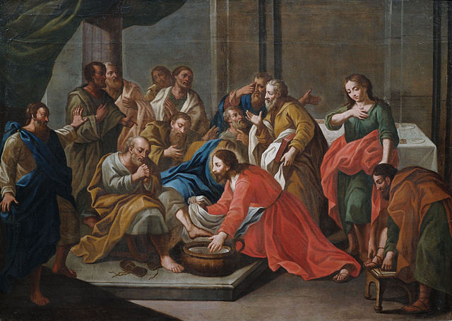 Christ washing his disciples' feet