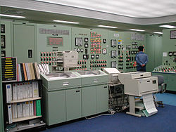 Inside the control room in 1999.
