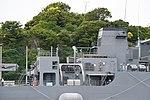 Funnel of JS Syonan(AMS-5106) right rear view at JMSDF Yokosuka Naval Base April 30, 2018.jpg