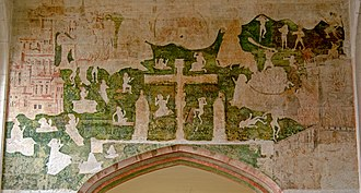 Guild Chapel - Image: GUILD CHAPEL medieval wall paintings 8018