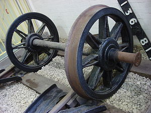Wheelset (rail transport) - Image: GWR Spoked wagon wheels