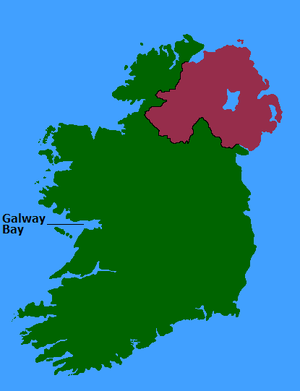 Galway Bay - Map showing Galway Bay's location.