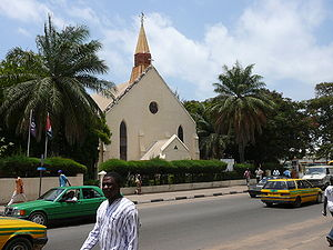 Religion in the Gambia - Saint Mary's Anglican Cathedral in Banjul