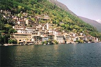 Gandria - Gandria village from Lake Lugano