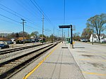 Gary-Chicago Airport at Clark Road station.jpg