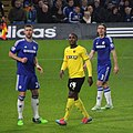 Gary Cahil, Odion Ighalo, Filipe Luís, Chelsea 3 Watford 0 FA Cup 3rd round.jpg