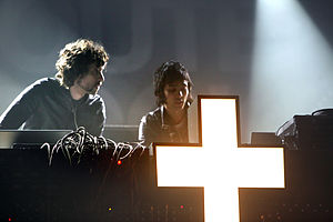 Justice (band) - Image: Gaspard Augé and Xavier de Rosnay (Justice)