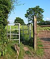 Gate on the Sandstone Trail - geograph.org.uk - 193627.jpg