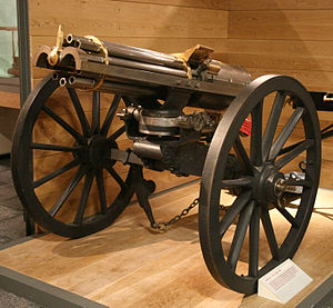 Gatling gun - A British 1865 Gatling gun at Firepower - The Royal Artillery Museum