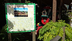Gatorland - The original locomotive used for the railroad attraction in Gatorland.