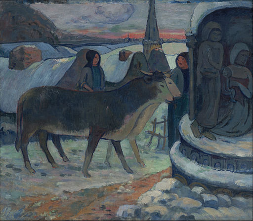 Gauguin, Paul - Christmas Night (The Blessing of the Oxen) - Google Art Project