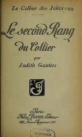 Gautier - Le Second Rang du Collier.djvu