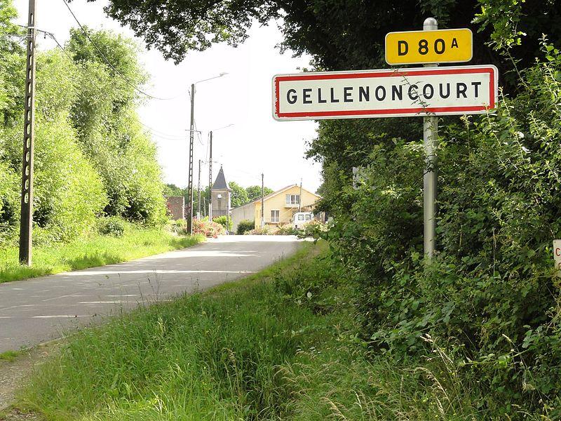 Gellenoncourt (M-et-M) city limit sign