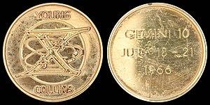Gemini 10 - Gemini 10 space-flown Fliteline Medallion