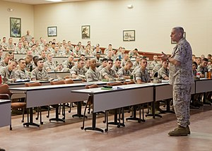 The Basic School - The Assistant Commandant of the Marine Corps, Gen. John M. Paxton, Jr., speaks to students of Bravo Company at The Basic School in June 2014.