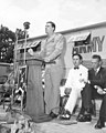 Gen. Ralph Stearley, former commander of Ninth Tactical Air Command during WWII, speaks at World War II reunion of ex-North Texas Agricultural College students (10004197).jpg