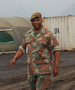 Lindile Yam - Lieutenant General Lindile Yam during a visit to the FIB in the DRC during 2014