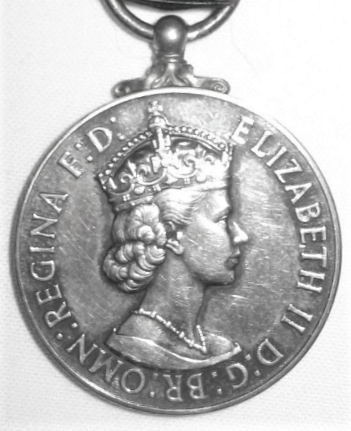 George Medal, Queen Elizabeth, first obverse