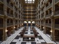 George Peabody Library, formerly the Library of the Peabody Institute of the City of Baltimore, is part of the Johns Hopkins Sheridan Libraries. Baltimore, Maryland LCCN2013646466.tif