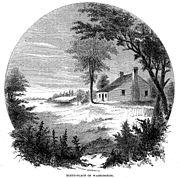 George Washington's birthplace (1856 engraving)