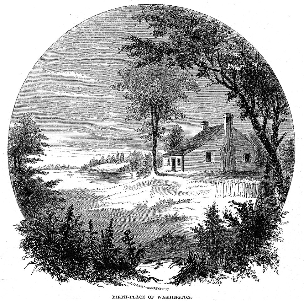 George Washington%27s birthplace (1856 engraving)