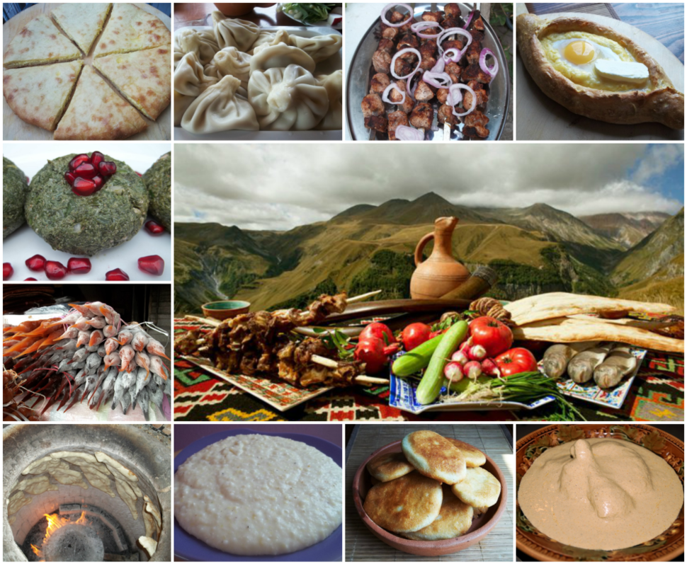 Georgian Cuisine Collage