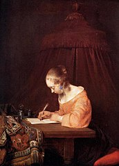 A Lady seated Writing a Letter