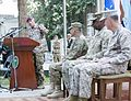 German army Gen. Hans-Lothar Domröse, at lectern, the commander of Allied Joint Force Command Brunssum, delivers remarks during the International Security Assistance Force and U.S. Forces-Afghanistan change of co 140826-D-HU462-572.jpg