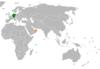 Lage von Deutschland und Oman