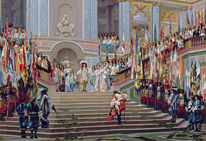 Reception of Le Grand Condé at Versailles by J...