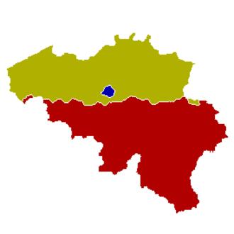 Société Régionale Wallonne du Transport - Regions of Belgium Brussels-Capital (blue) Wallonia (red) Flanders (yellow)