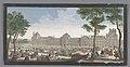 Gezicht op het Palais des Tuileries te Parijs gezien vanaf de Jardin des Tuileries Les promenades du Palais Thuilleries (titel op object), RP-P-1980-475.jpg